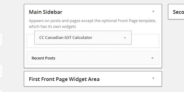 Drag GST Calculator widget