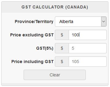Hst Tax Calculator >> Gst Calculator