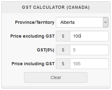 Canadian gst hst pst tps/tvq/qst sales tax calculator.